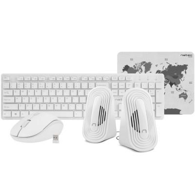 Set 4-in-1 Natec Tetra Wireless white