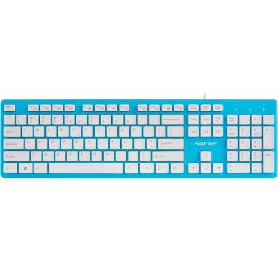 Tastatura Natec Discus Slim blue-white