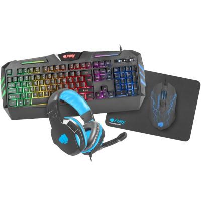 Kit tastatura, mouse, casti si mousepad Fury ThunderStreak 2.0