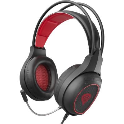 Casti Genesis Radon 300, 7.1 Virtual, USB, negru-rosu
