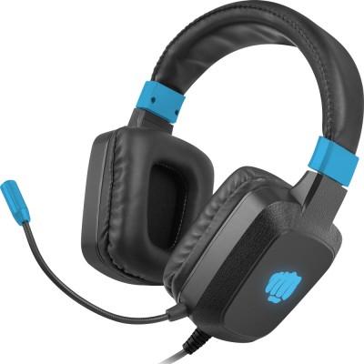 Casti Fury Raptor, stereo, 3.5 mm jack, USB, negru-albastru