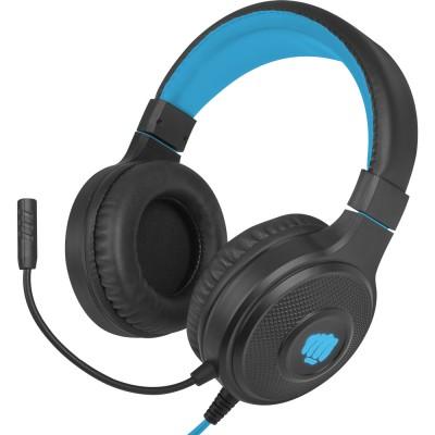 Casti Fury Warhawk, stereo, 3.5mm, USB, negru-albastru