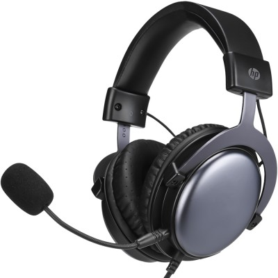Casti HP DHE-8005, Stereo, Multiplatforma, 3.5mm, negru-gri