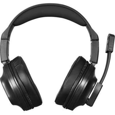 Casti HP DHE-8002, stereo, 3.5mm, USB, negru-albastru