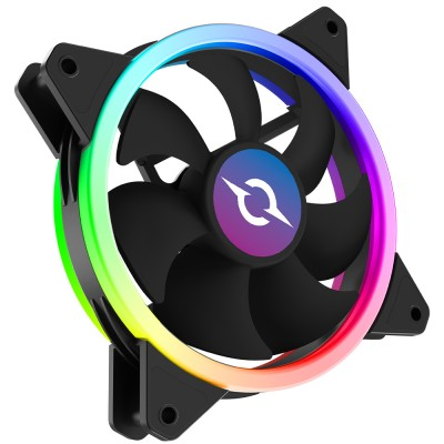 Ventilator 120 mm AQIRYS Cetus 6P-12DL16-RGB, 1200 rpm, 6-pin