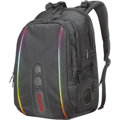 "Rucsac gaming cu iluminare RGB Marvo BA-02, 15.6"", boxa wireless integrata"