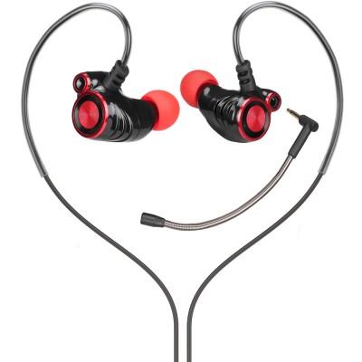 Casti HP DHE-7002, in-ear, Jack 3.5mm, rosu