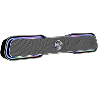 Boxe 2.0 HP DHE-6002, Soundbar, 6W, Jack 3.5mm, USB (alimentare), Negru