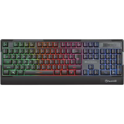 Tastatura Marvo K606, iluminare Rainbow, USB, negru