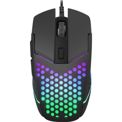 Mouse Fury Battler, 6400dpi, optic, USB cu fir, Negru