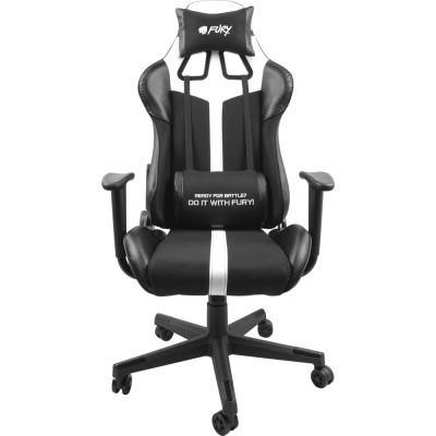 Scaun pentru gaming Fury Avenger XL negru-alb
