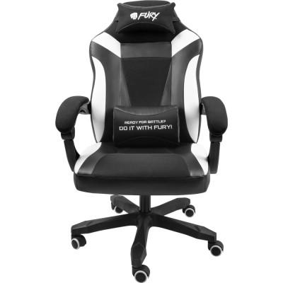 Scaun pentru gaming Fury Avenger M+ negru-alb