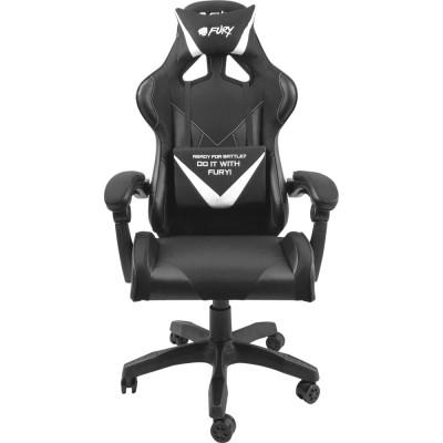 Scaun pentru gaming Fury Avenger L negru-alb