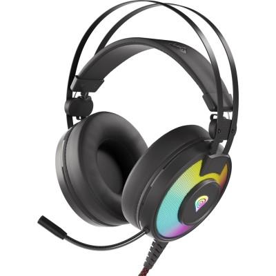 Casti Genesis Neon 600 RGB, stereo, 3.5mm, USB, negru