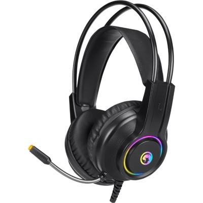 Casti Marvo HG8935 Rainbow, stereo, 3.5mm, USB, negru