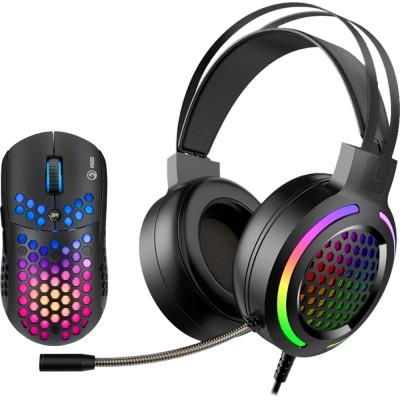 Kit mouse si casti Marvo MH01, 6400 dpi, stereo, negru