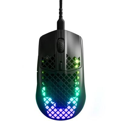 Mouse SteelSeries Aerox 3, ultrausor 57g, 8500dpi, USB, Negru