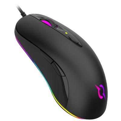 Mouse AQIRYS Orion, 16000dpi, optic, USB cu fir, Negru