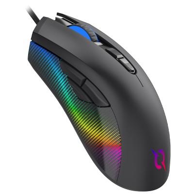 Mouse AQIRYS Phoenix, 12000dpi, optic, USB cu fir, Negru