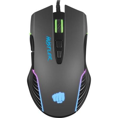 Mouse Fury Hustler, 6400dpi, optic, USB cu fir, Negru