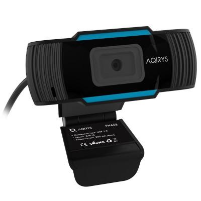 Camera web AQIRYS Phase, 2.1MP, Full HD, Microfon, Focus-Free (Negru)