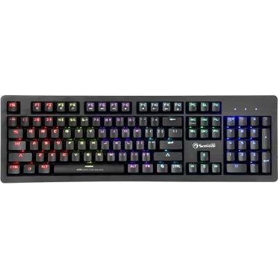 Tastatura Marvo KG916, mecanica, USB, iluminare Rainbow, negru