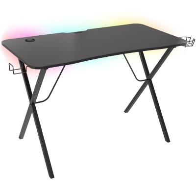 Birou gaming Genesis Holm 200 RGB, 113x75 cm, Iluminare RGB, negru