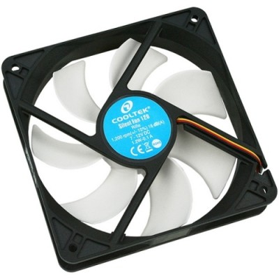 Ventilator Cooltek SILENT FAN 120 120 mm, 1200 rpm, 63.5 CFM