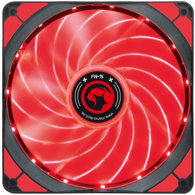 Ventilator 140 mm Marvo FN-15 red
