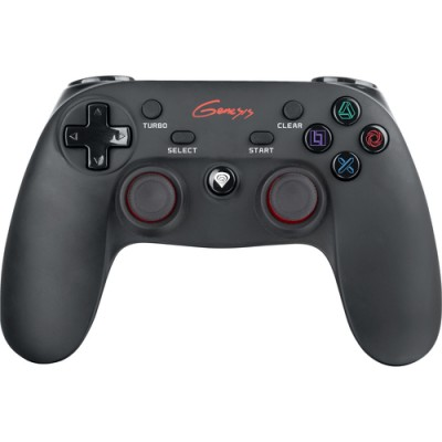Gamepad Natec Genesis PV65 (PC, PS3) Wireless, PC, Playstation 3, Negru/Rosu