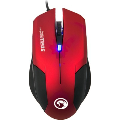 Mouse Marvo M205 RED 1600 dpi, Optic, 6 Butoane, USB