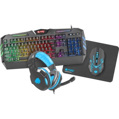Kit tastatura, mouse, casti si mousepad Fury ThunderStreak