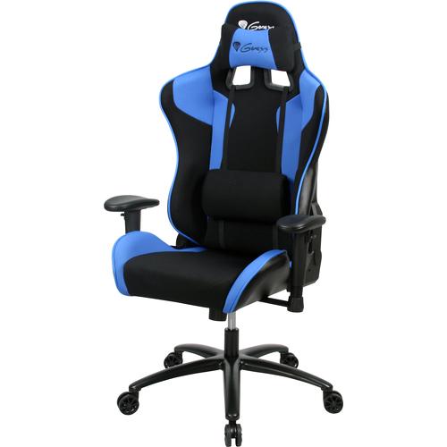Scaun gaming Genesis SX77 BLUE Negru/Albastru, Piele, Metal